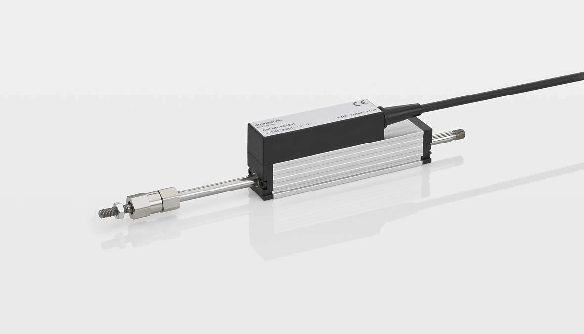 Линейный датчик положения с потенциометром из токопроводящей пластмассы абсолютный TE1 series NOVOTECHNIK
