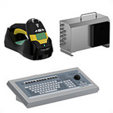 Industrial keyboards, barcode readers, and KVM extenders