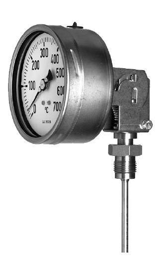 Игольчатый термометр газовый привинчиваемый промышленный TM350 tecsis