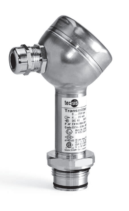 Искробезопасный датчик давления взрывозащищенный из нержавеющей стали max. 1 000 bar | PEX10, PEX11  tecsis