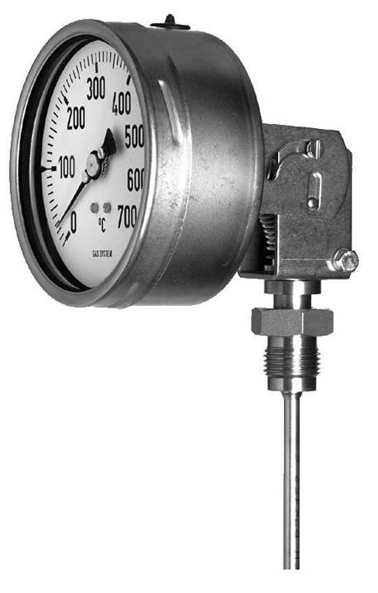Игольчатый термометр с расширением газа с пузырьками с вставкой промышленный TM370  tecsis