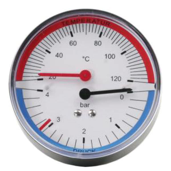 Манометр-термометр со шкалой процесс P1497  tecsis