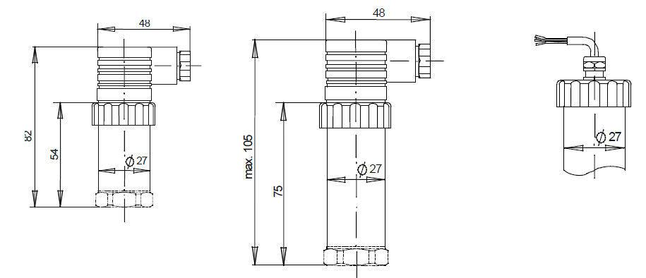 Датчик давления из нержавеющей стали max. 1 000 bar | P3276 tecsis