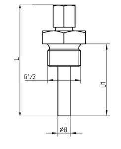 Температурный зонд термопара с сопротивлением резьбовой TWxxx series tecsis