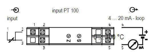 Датчик температуры на DIN-рейке RTD 4-20 мА аналоговый TET85, TET87 tecsis
