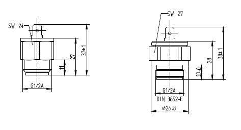 Механический термостат S6250  tecsis