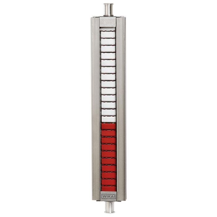 Магнитный указатель уровня с заслонками из нержавеющей стали. модель BMD-FR